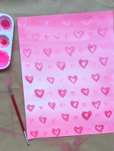 wash with hearts