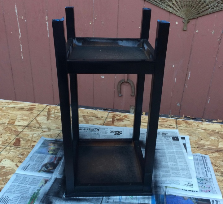 *side table, spray painting