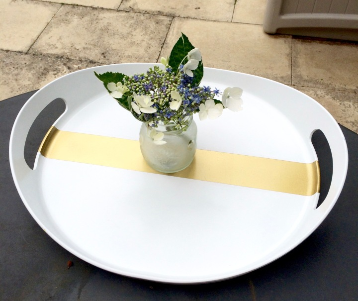 Gold Accent Tray