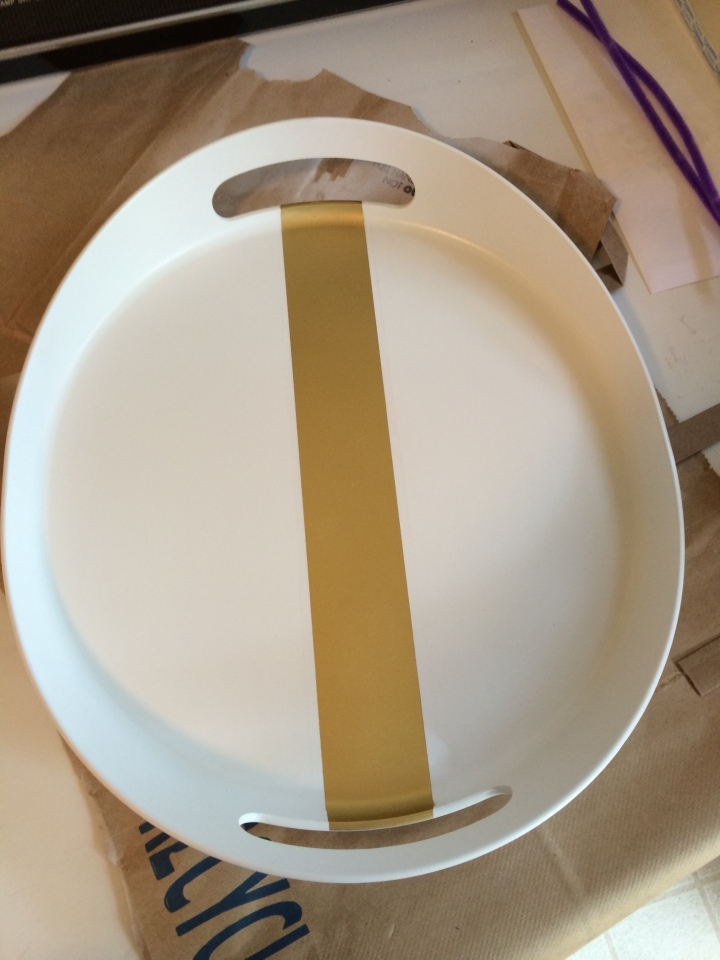 Use painters tape to outline the stripe in the middle.